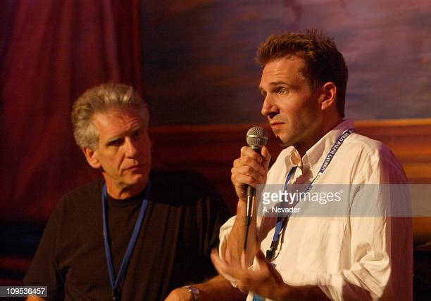 David Cronenberg and Ralph Fiennes during 2002 Telluride Film Festival Ralph Fiennes and David Cronenberg at the 'Spider' Premiere at Sheraton Opera...