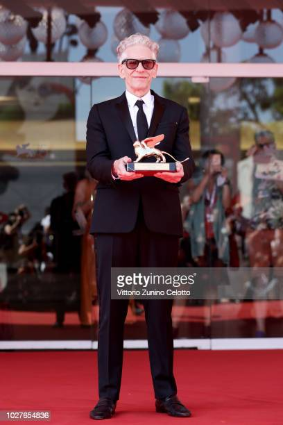 David Cronenberg poses with the Lifetime Achievement Award as he attends M Butterfly screening And Lifetime Achievement Award To David Cronenberg...