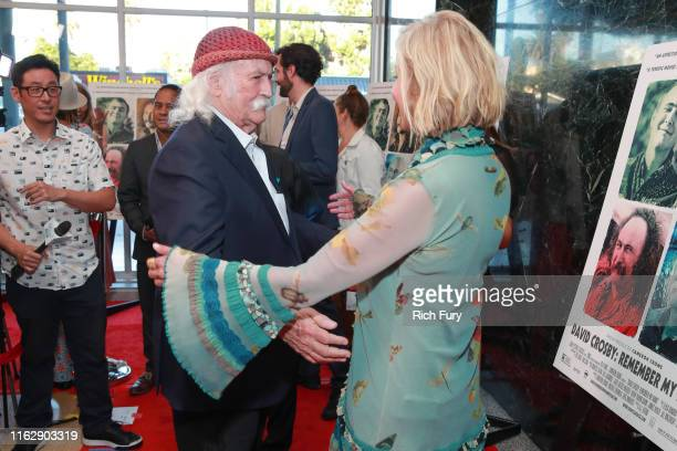 David Crosby and Bo Derek attend the premiere of Sony Pictures Classic's David Crosby Remember My Name at Linwood Dunn Theater on July 18 2019 in Los...