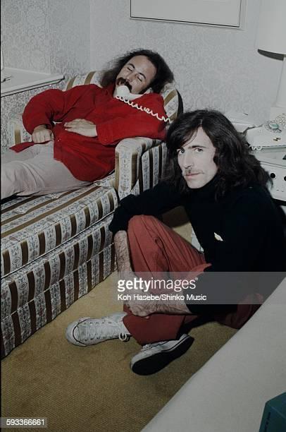 David Crosby and Graham Nash at the hotel Tokyo December 1975