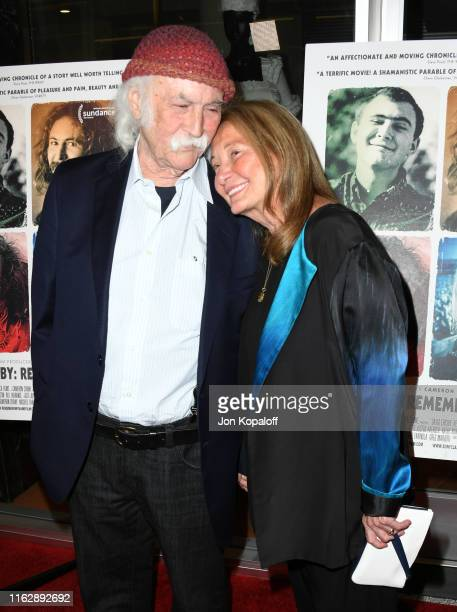David Crosby and Jan Dance attend the Premiere Of Sony Pictures Classic's David Crosby Remember My Name at Linwood Dunn Theater on July 18 2019 in...