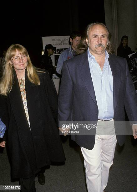 David Crosby and wife during Concert To Benefit The Los Angeles Children's Health Project at Dorothy Chandler Pavillion in Los Angeles, California,...