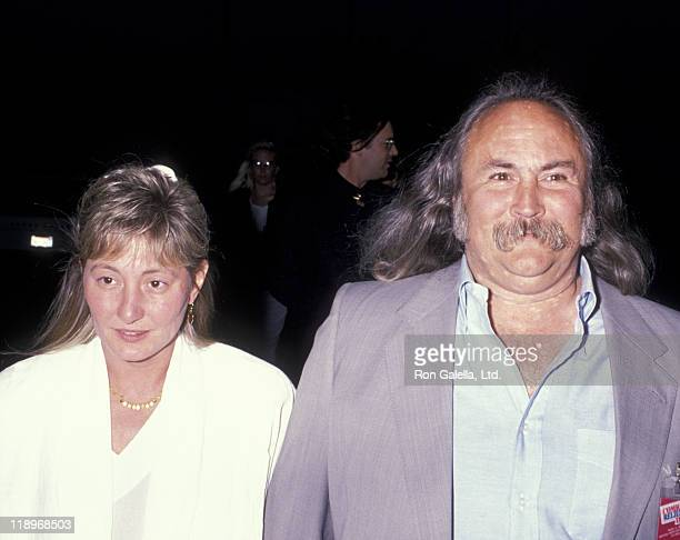 David Crosby and wife Jan Dance attend Comic Relief III Benefit on March 18 1989 at the Universal Ampitheater in Universal City California
