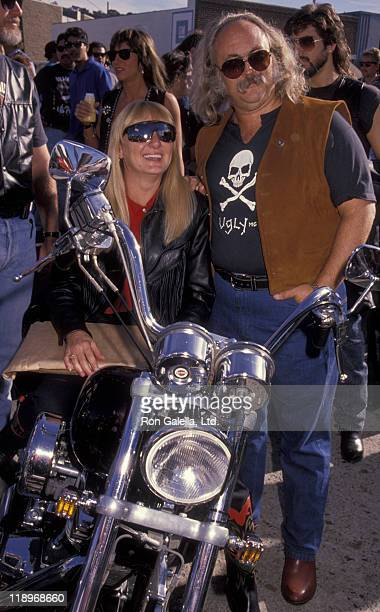 David Crosby and wife Jan Dance attend Love Ride VII Benefit for Muscular Dystrophy on November 11 1990 at Harley Davidson of Glendale in Glendale...