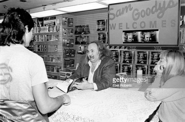 David Crosby at a book signing for his autobiography 'Oh Yes I Can' at Sam Goody in New York City on February 16, 1989.