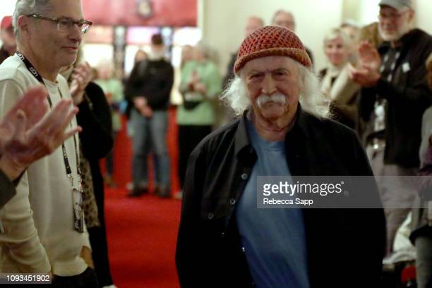 David Crosby attends a screening of 'Remember My Name' during the 34th Santa Barbara International Film Festival at the Lobero Theatre on February 3...