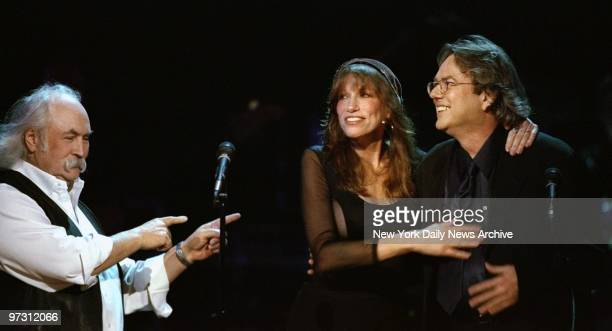 David Crosby Carly Simon and Jimmy Webb perform at An AllStar Tribute to Brian Wilson at Radio City Music Hall