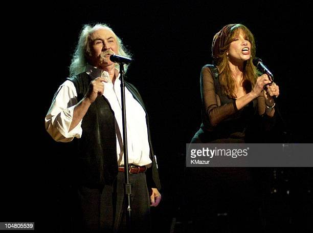 David Crosby Carly Simon during TNT AllStar Tribute to Brian Wilson at Radio City Music Hall in New York City New York United States
