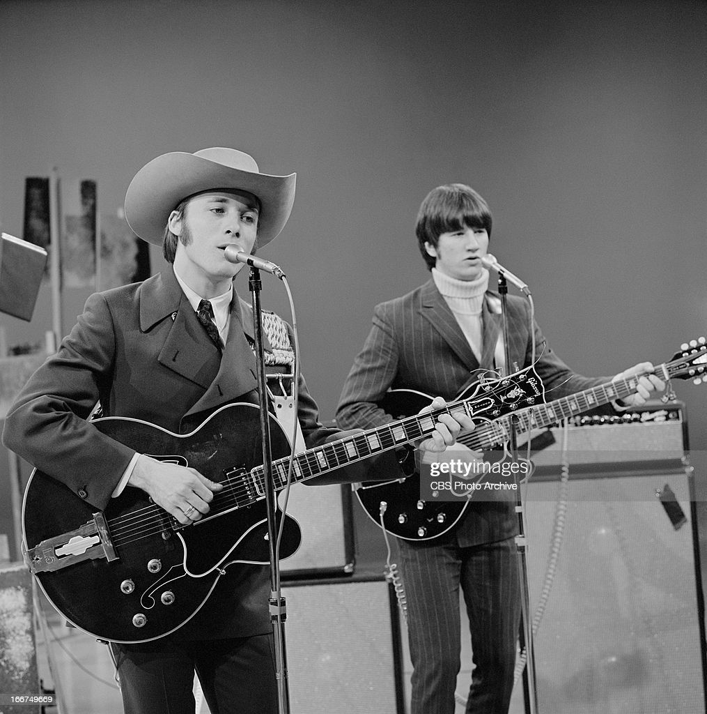 David Crosby, left, with the Buffalo Springfield on THE SMOTHERS BROTHERS COMEDY HOUR. Image dated February 17, 1967.