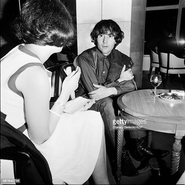 David Crosby of The Byrds is interviewed at a London hotel 1965