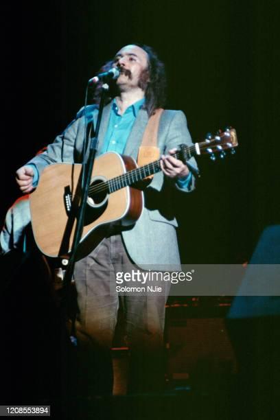 David Crosby performing at Crosby Stills and Nash Allies Tour 1112 July 1983 Wembley Arena