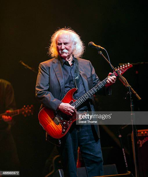 David Crosby performs on stage at Symphony Hall on September 18 2015 in Birmingham England
