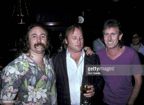 David Crosby Stephen Stills and Graham Nash during Posty Concert Party For Crosby Stills and Nash at Berkshire Hotel in New York City New York United...