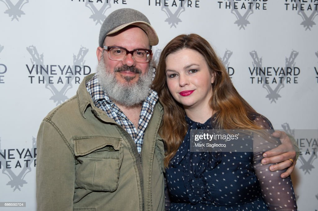David Cross (L) and Actress Amber Tamblyn attend the 'Can You Forgive Her?' Opening Night at the Vineyard Theatre on May 21, 2017 in New York City.