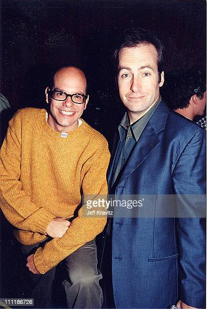 David Cross Bob Odenkirk at the 1998 Mr Show party in Los Angeles