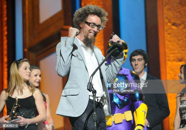 David Crowder onstage during the PreTelecast at the 39th Annual GMA Dove Awards held at the Grand Ole Opry House on April 23 2008 in Nashville...
