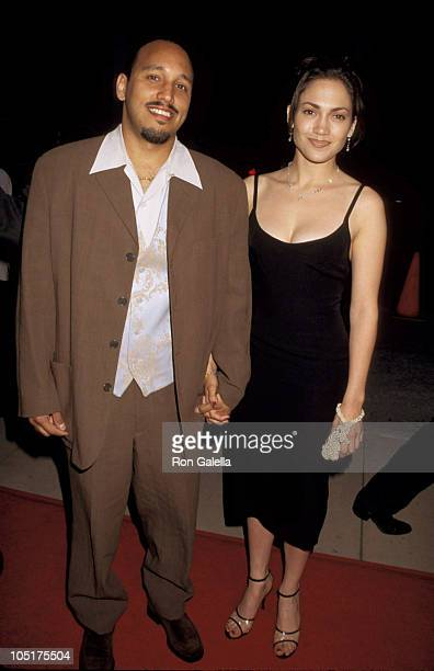 David Cruz and Jennifer Lopez during Premiere of My Family at Pacific's Cinerama Dome Theater in Hollywood California United States