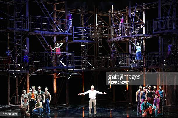 David Curry as Tony and other actors perform in Leonard Bernstein's musical in two acts West Side Story 19 November 2007 at Paris' Chatelet Theatre A...
