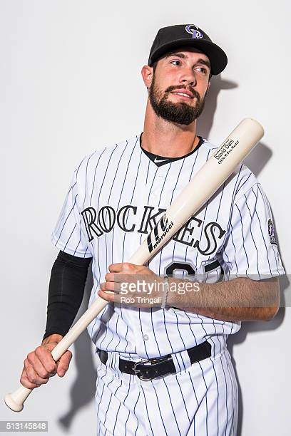 David Dahl of the Colorado Rockies poses for a portrait at the Salt River Fields at Talking Stick on February 29 2016 in Sottsdale Arizona