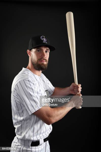 David Dahl of the Colorado Rockies poses for a portrait during photo day at Salt River Fields at Talking Stick on February 23 2017 in Scottsdale...