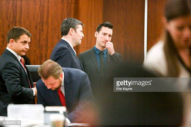 David Daleiden , a defendant in an indictment stemming from a Planned Parenthood video he helped produce, appears in court with his attorneys at the...
