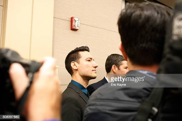 David Daleiden, a defendant in an indictment stemming from a Planned Parenthood video he helped produce, arrives for court at the Harris County...