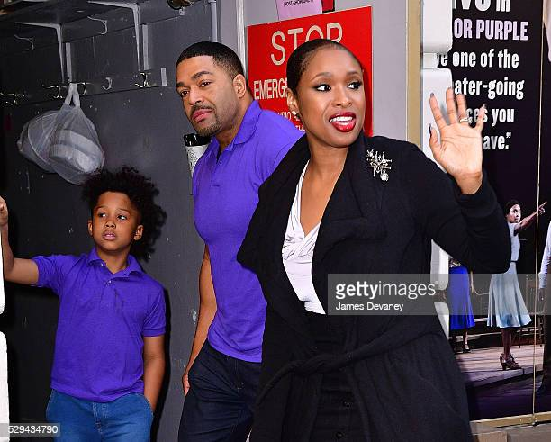 David Daniel Otunga Jr David Otunga and Jennifer Hudson leave her final performance of 'The Color Purple' at Bernard Jacobs Theater on May 8 2016 in...