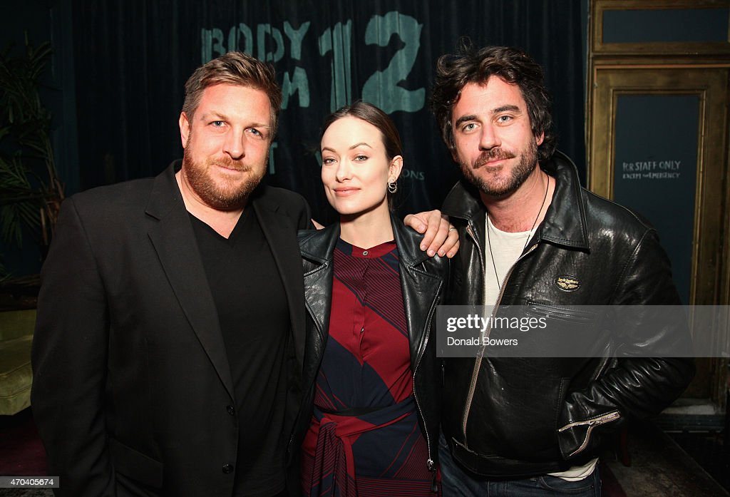 David Darg, Olivia Wilde and Bryn Mooser attend the RYOT