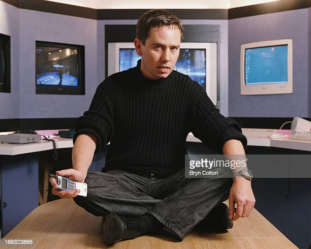 David Darling, co-founder of Codemasters, a British video game developer and publisher, poses for a photograph in company's Warwickshire headquarters...
