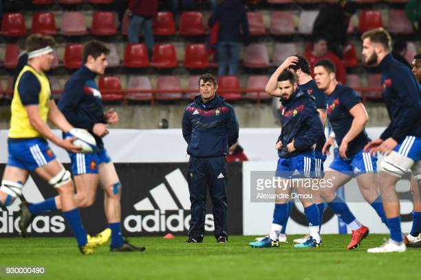 David Darricarrere Coach of France during the RBS Six Nations match between France and England at Stade de la Mediterranee on March 9 2018 in Beziers...