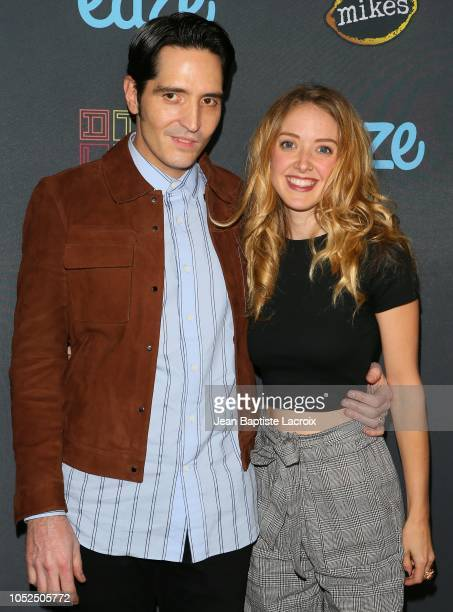 David Dastmalchian and Evelyn Leigh attend the 2018 Downtown Los Angeles Film Festival 'All Creatures Here Below' 'Original Sin' And Perception'...