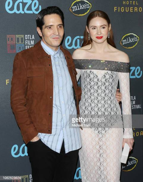 "David Dastmalchian and Karen Gillan attend the 2018 Downtown Los Angeles Film Festival - ""All Creatures Here Below"" ""Original Sin"" And Perception""..."