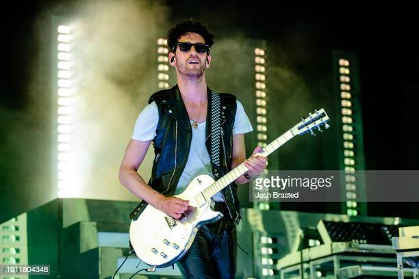 David 'Dave 1' Macklovitch of Chromeo performs during Lollapalooza 2018 at Grant Park on August 5 2018 in Chicago Illinois
