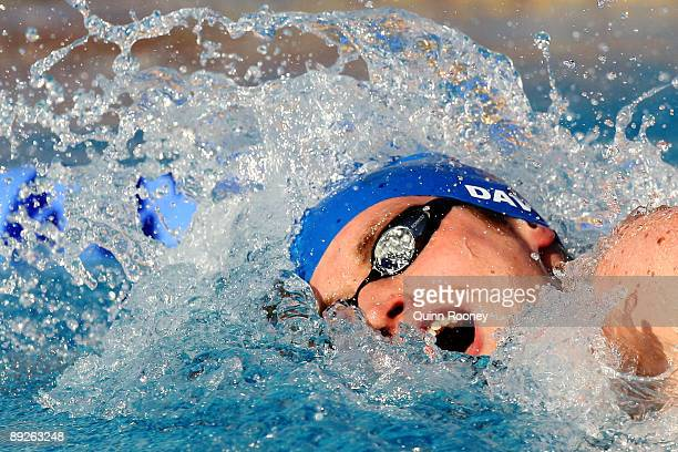 David Davies of Great Britain competes in the Men's 400m Freestyle Final during the 13th FINA World Championships at the Stadio del Nuoto on July 26...