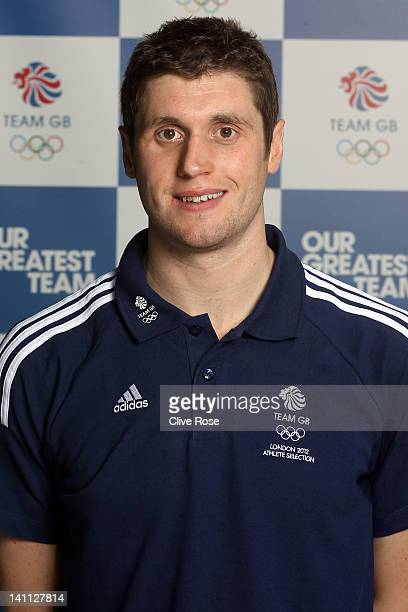 David Davies of Great Britain poses during day eight of the British Gas Swimming Championships at The London Aquatics Centre on March 10 2012 in...