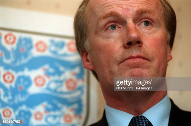 David Davies the FA's director of public affairs issues a statement at Lancaster Gate this afternoon after the resignation of Graham Kelly as Chief...
