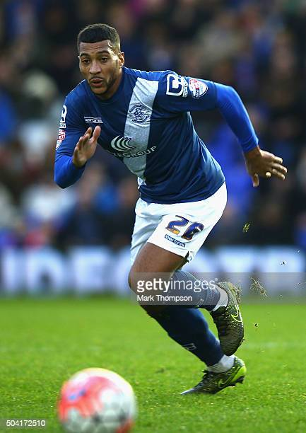 David Davis of Birmingham City in action duiring the Emitates FA cup 3rd round at St Andrews on January 9 2016 in Birmingham England