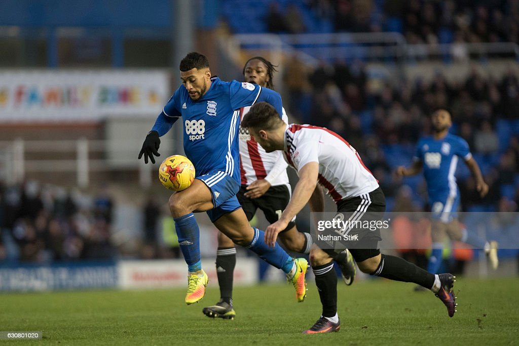 David Davis of Birmingham City in action during the Sky Bet Championship match between Birmingham City and Brentford at St Andrews Stadium on January 2, 2017 in Birmingham, England (Photo by Nathan Stirk/Getty Images).
