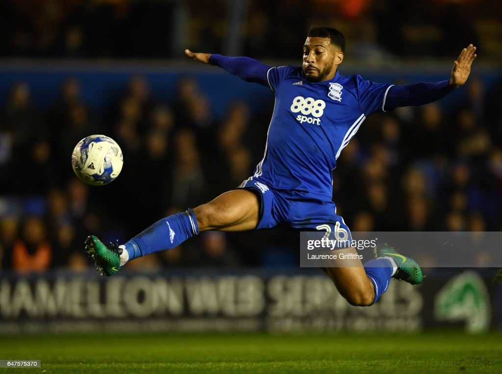 David Davis of Birmingham City in actionduring the Sky Bet Championship match between Birmingham City and Leeds United at St Andrews (stadium) on March 3, 2017 in Birmingham, England.