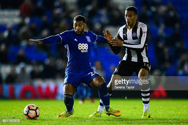 David Davis of Birmingham City looks to control the ball whilst being pursued by Isaac Hayden of Newcastle United during The Emirates FA Cup Third...
