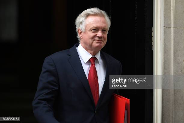David Davis Secretary for exiting the European Union leaves 10 Downing Street on June 12 2017 in London England British Prime Minister Theresa May...