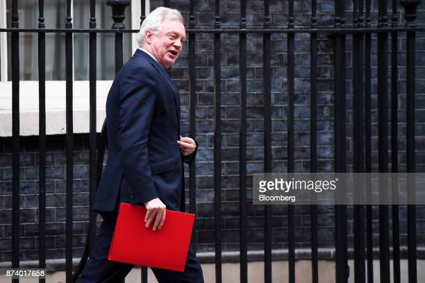 David Davis UK exiting the European Union secretary leaves following a cabinet meeting at number 10 Downing Street in London UK on Tuesday Nov 14...