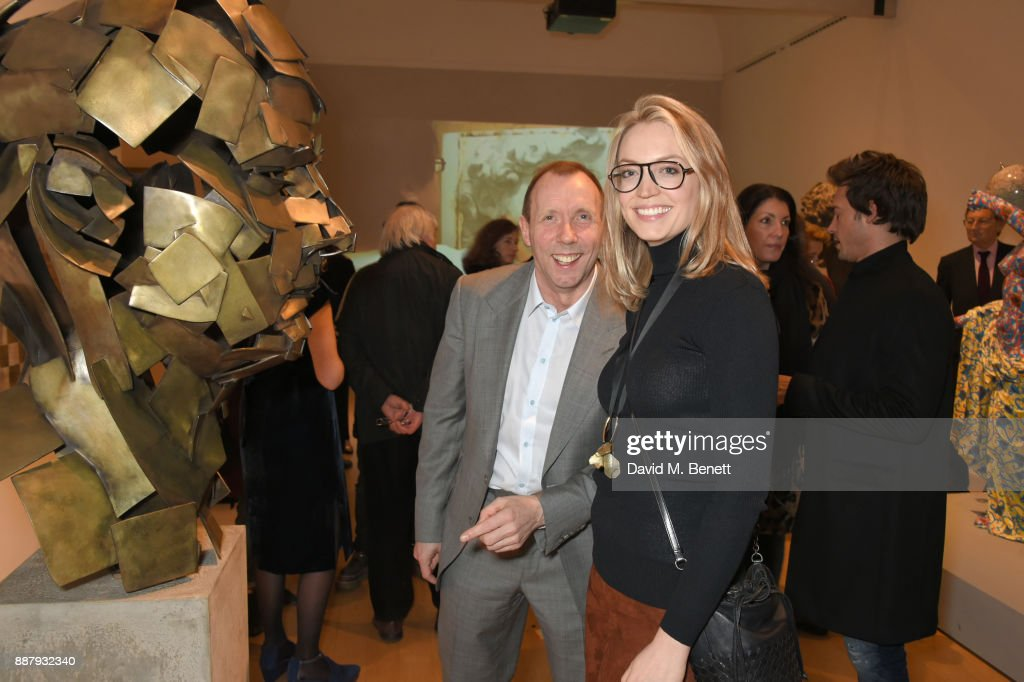 David Dawson (C) attends a private view of new exhibition 'From Life' at The Royal Academy of Arts on December 7, 2017 in London, England.