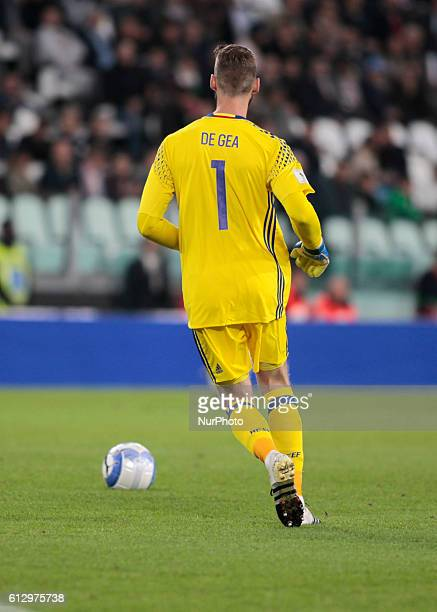 David De Gea during the match to qualify for the Football World Cup 2018 between Italia v Spagna in Turin on Octoberr 06 2016