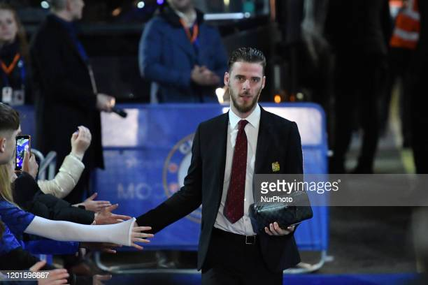 David de Gea during the Premier League match between Chelsea FC and Manchester United at Stamford Bridge on February 17 2020 in London United Kingdom