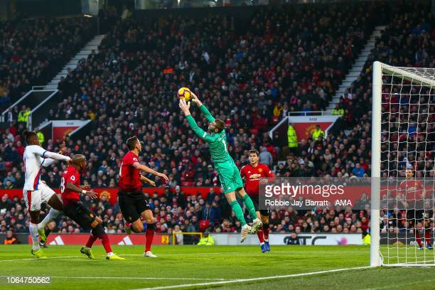 David de Gea of Manchester United during the Premier League match between Manchester United and Crystal Palace at Old Trafford on November 24 2018 in...
