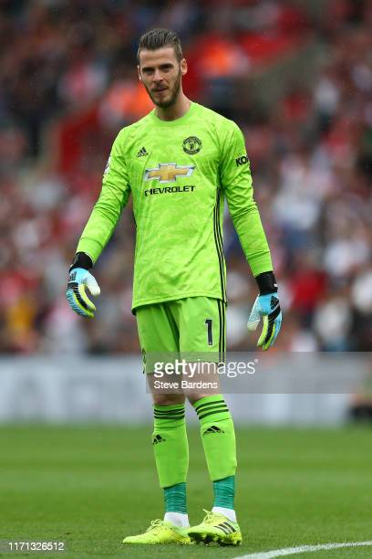 David de Gea of Manchester United during the Premier League match between Southampton FC and Manchester United at St Mary's Stadium on August 31 2019...