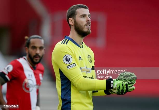 David De Gea of Manchester United during the Premier League match between Southampton and Manchester United at St Mary's Stadium on November 29 2020...