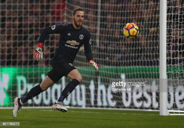 David De Gea of Manchester United during the Premier League match between Crystal Palace and Manchester United at Selhurst Park on March 5 2018 in...