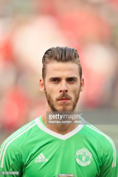 David de Gea of Manchester United during to the friendly fixture between LA Galaxy and Manchester United at StubHub Center on July 15 2017 in Carson...
